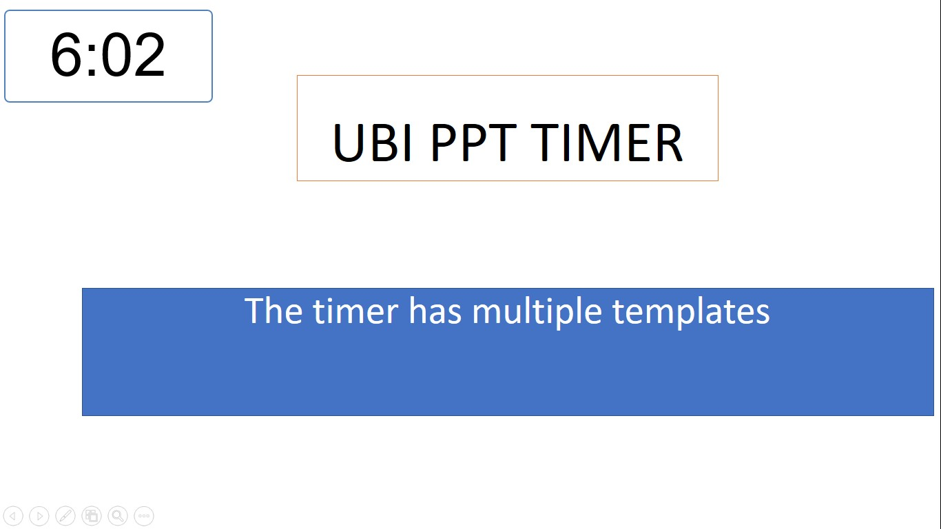 PowerPoint Timer - Ubi PowerPoint Timer for Power Point presentation