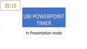 Ubi timer for power point