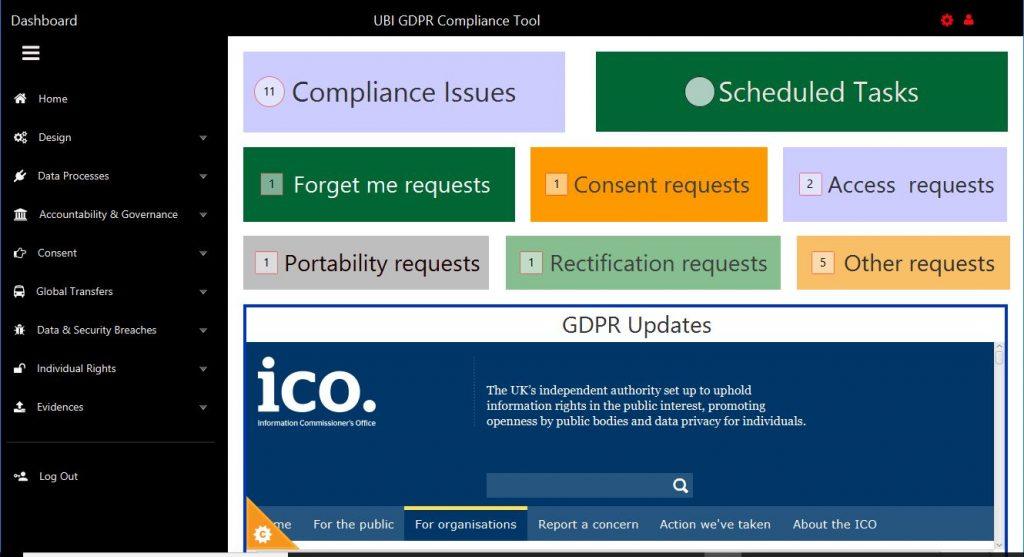 GDPR Compliance Management Tool